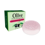 HERBOLIVE SOAP FACE ROUND POMEGRANATE (OILYSKIN) PIN