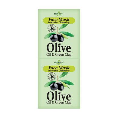 HERBOLIVE FACE MASK INTENSIVE CLEANSING WITH GREEN CLAY