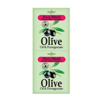 HERBOLIVE FACE MASK ANTIWRINKLE FIRMING WITH POMEGRANATE