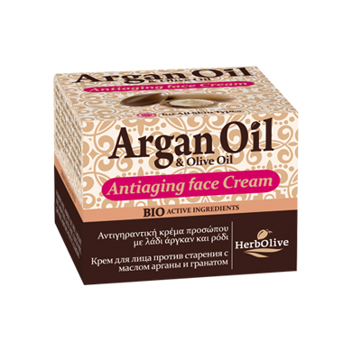 HERBOLIVE ARGAN FACE ANTIAGING CREAM