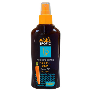 ALOHA TROPIC PROTECTIVE TANNING DRY OIL CARROT SPF 15 200 ml