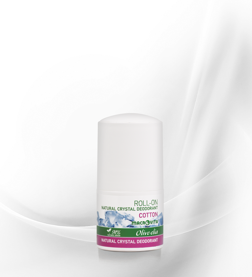 Natural crystal deo roll-on cotton OLV
