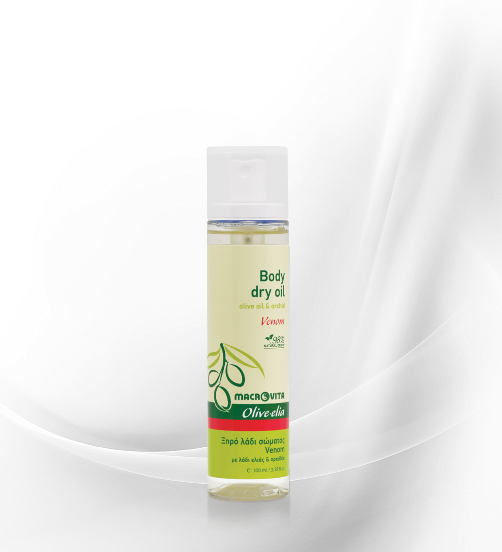 Body dry oil venom OLIVE-ELIA