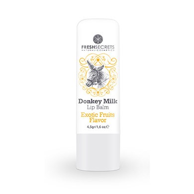 FRESH SECRETS Lipbalm with Donkey milk & Exotic Fruits