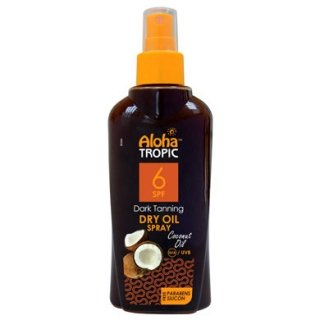 ALOHA TROPIC DARK TANNING DRY OIL COCONUT SPF 6 200 ML