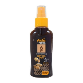 ALOHA TROPIC DARK TANNING DRY OIL MICRO ARGAN SPF 6 100ml