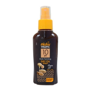 ALOHA TROPIC DARK TANNING DRY OIL MICRO ARGAN SPF 10 100ml