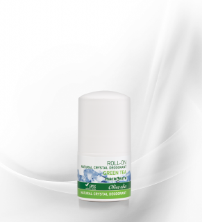 Natural crystal deo roll-on green tea OLV