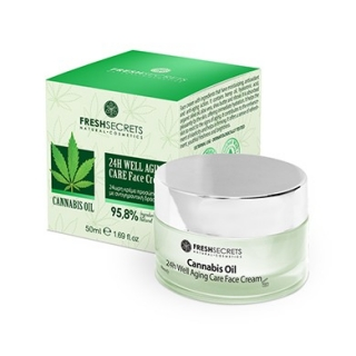 Fresh Secrets Face Cream 24Η Well Aging Care With Cannabis
