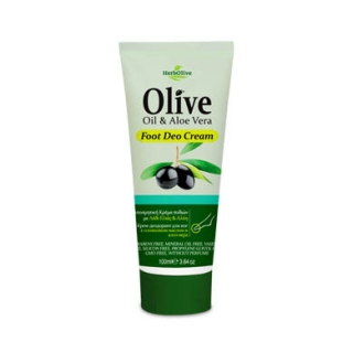 HERBOLIVE FOOT DEODORANT CREAM ALOE