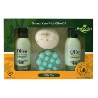 HERBOLIVE GIFT SET Nr4 (2 BOTTLES 60ml & 2 SOAPS 55gr)