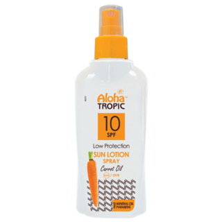 ALOHA TROPIC SUN LOTION SPF 10 CARROT 200 ml