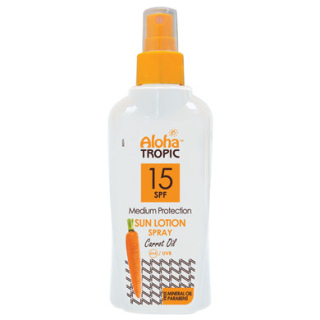 ALOHA TROPIC SUN LOTION SPF 15 CARROT 200 ml